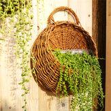 Flor plantador colgante de la pared de la cesta jardín de los jarrones ornamentales al aire libre Interior titular de la decoración del hogar