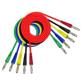 Cleqee P1043 1M 5color Double 4mm Banana plug Test Leads For Multimeter Measure Tool DIY