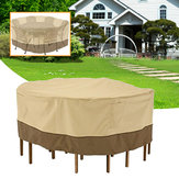 Garden Round Waterproof Table Cover Patio Outdoor Furniture Set Shelter Protection