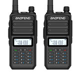 2 STKS BAOFENG BF-S5plus 18 W Waterdicht UV Dual Band Handheld Radio Walkie Talkie Zaklamp Wandelen Interphone Zwart EU Plug