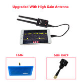 Eachine ROTG02 UVC OTG 5.8G 150CH Diversity Audio FPV Receiver Black with RHCP High Gain Antenna for Android Tablet Smartphone