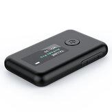 AILD Display OLED em cores Adaptador bluetooth Dongles Bluetooth sem fio Transmissor de áudio Receptor Adaptador HiFi YET-T2