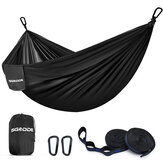 SGODDE Double People Camping Hammock Portable Lightweight Hanging Bed with Tree Straps Travel Beach Backyard Patio
