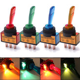 12V Light Illuminated Flick Toggle Switch Car Boat Dashboard Panel