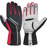 ROCKBROS Cycling Glove Touch Screen Windproof Waterproof Full Long Finger Gloves Winter Fleece Thermal Warm Gloves
