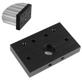 Blacha aluminiowa Blacha czołowa Płyta montażowa Płytka mocująca z końcówką śrubową do drukarki 3D Część CNC