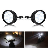 1 Pair 12V-80V 24W 3000LM 6000-6500K Waterproof Motorcycle Spot Fog LED Headlights
