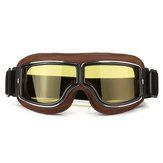 Motorcycle Flying Scooter ATV Goggles Helmet Glasses Windproof Coffee Frame