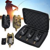 1/3 piezas alarma de mordida de pesca luz indicadora azul alerta de sonido aparejos de pesca caza al aire libre