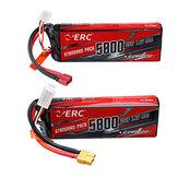 SUNPADOW ERC 7,4 V 5800 mAh 100C 2S Lipo Batería Enchufe T / XT60 con correa Batería para RC Coche