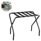 Metal Folding Luggage Stand Portable Travel Suitcase Rack Multifunction Standing Desk