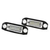 2PCS 18LED License Piatto Light lampada Lampadina senza errori per Volvo S40 S60 S80 V50 XC70