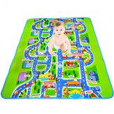 Wasserdichte Baby Crawl Spielmatte Kids Foam Road Map Rennwagen Decke Picknick