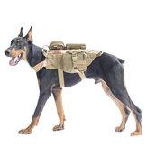 600D Nylon Chalecos tácticos Perro militar Perro Ropa con almacenamiento Bolsa Arnés de soporte de carga de entrenamiento