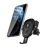 BlitzWolf® BW-CW2 Car 15W Qi Wireless Charger Automatic Clamping Air Vent Car Phone Holder Car Mount 360º Rotation For 4.0-6.8 Inch Qi-enabled Smart Phone For iPhone 12 SE 2020 For Samsung Galaxy Note 20 Huawei Xiaomi