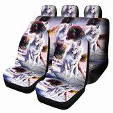 1/7 шт. Универсальный Авто чехол для сиденья Wolf Дизайн переднее и заднее сиденье с полной защитой