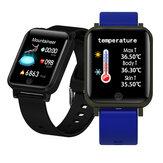 Bakeey F29 Pomiar temperatury Tętno Ciśnienie krwi Monitor tlenu Wyświetlacz pogody Inteligentny zegarek