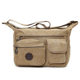 Men Canvas Casual Shoulder Bag Large Capacity Messenger