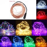 5M 50 LED drut miedziany Christmas Outdoor String Fairy Light DC12V