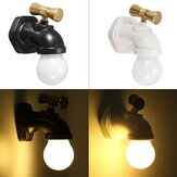 Rechargeable Water Tap Shape LED Night Light Sound Control Home Wall Decor Gift