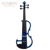 ナオミバイオリンフルサイズ4/4ソリッドウッドエレクトリックバイオリンバスウッドボディエボニーフィンガーボードペグエボニーエボニーアクセサリー
