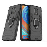 Bakeey Armor Magnétique antichoc avec support de bague de rotation à 360 degrés Support PC Housse de protection pour Xiaomi Redmi Note 9S / Redmi Note 9 Pro / Redmi Note 9 Pro Max