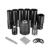 10pcs Air Impact Socket Wrench Set 1/2 Inch Square Drive Metric Drill Chuck Adapter