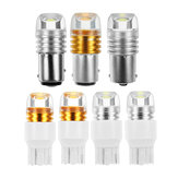 2pcs White Yellow 1156/1157 7440/7443 T20 S25 6W Turn Signal Light Bulbs For Front Reverse Lights Brake Light