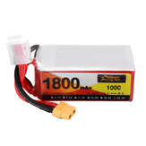 ZOP Power 22.2V 1800mAh 100C 6S Lipo Battery XT60 Plug For RC Drone