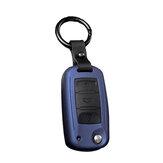 Housse de protection en silicone pour clé de voiture avec boucle de ceinture adaptée pour Volkswagen / Golf / Jetta / Skoda