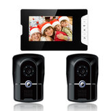 ENNIO SY813MK21 7inch TFT LCD Video Door Phone Doorbell Intercom Kit 2 Cameras 1 Monitor Night Vision