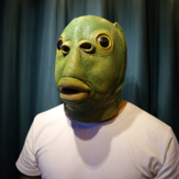 Party Cosplay Funny Halloween Latex Cute Masquerade Rubber Fish Mask Full Head Green Fish Head Mask Animal