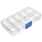 Compartimento destacável caixa de caixa de armazenamento vazio ajustável 10 células de ponta do prego gems pouco material