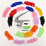 Pulsante di chiusura a scatto pinze con 350pcs T5 bottoni a pressione in plastica resina Poppers