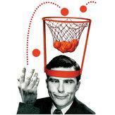 Cabeça basketball hoop jogo círculo tiro plástico cesta pai - criança brinquedos interativos chapéu