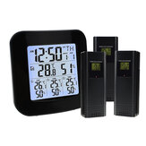 Digital Wireless Weather Station Thermometer 3 Sensor Temperature Humidity Meter