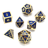 Cor antiga Metal Sólido Pesado Dice Set Polyhedral Dice Role Playing Jogos Dice Gadget RPG