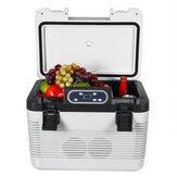 DC 12V - 24V 19L Car Refrigerator with Freezer Cooler portable Outdoor picnic