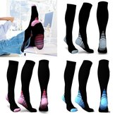 Uniex Elasticity Compression Socks Breathable Travel Aktiviteter Fit for sygeplejersker Shin Splints Flight