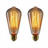 KINGSO 2 шт. / Упак. E27 лампа накаливания Эдисона Винтаж Лампа нить в стиле ретро ST64 40 Вт 110 В теплый белый идеально подходит для украшения старин