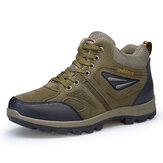 Outdoor Climbing Lace Up Warm High-top Shoes For Men
