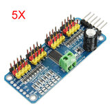 5Pcs PCA9685 16-Channel 12-bit PWM Servo Motor Driver I2C Module Geekcreit for Arduino - products that work with official Arduino boards