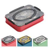 3/4-Grid Bento Box Grote Capaciteit Studenten Lunchbox Milieuvriendelijke Lekvrije 1000 ml Voedsel Container voor Outdoor Camping Reizen Picknick