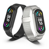 MIJOBS Plus Milan Buckle Stainless Steel Strap Replacement Watch Strap Wrist Bracelet for Xiaomi Mi Band 6/5/4/3