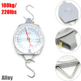 100kg/220lbs Clockface Hanging Scale Weighing Butchering with Hook