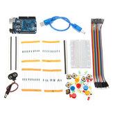 AOQDQDQD® DIY Bread Board LED UNO R3 Kit de aprendizado básico para iniciantes