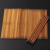 55pcs 11 Sizes Carbonized Bamboo Double Pointed Knitting Needles Hat Sweater Scarf Crochet Hook