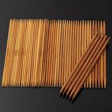 55 szt. 11 rozmiarów Carbonized Bamboo Double Pointed Knitting Needles Hat Sweter Szalik Crochet Hook