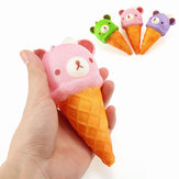 Squishy Ice Cream Bear Soft Slow Rising Collection Gift Decor Squish Squeeze Toy