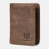 Bullcaptain RFID Antimagnetic Vintage lederen portemonnee met 9 kaartsleuven
